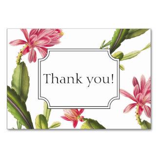 Blühende Kaktushochzeitseinladung danken Ihnen zu Karte