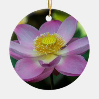 Blühende Lotos-Blume, Indonesien Rundes Keramik Ornament