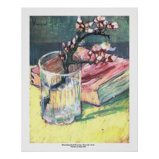 Blühende Mandel-Niederlassung durch Vincent van Go Poster