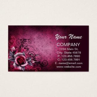 Blühende Rote Rose Visitenkarte