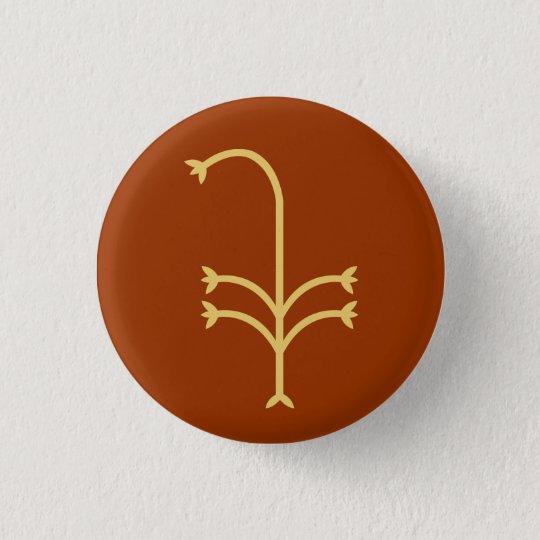 Blühende Segge Runder Button 3,2 Cm