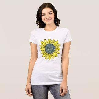 Blühende Sonnenblume T-Shirt