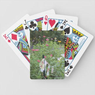 Blühende Spielkarten