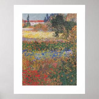 Blühender Garten (1888) durch Van Gogh Poster