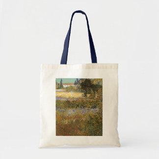 Blühender Garten durch Vincent van Gogh Tragetasche