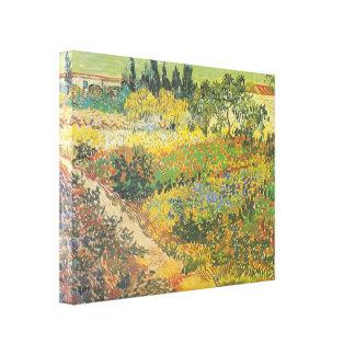 Blühender Garten mit Weg (1889) durch Van Gogh Galerie Faltleinwand