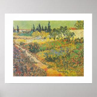 Blühender Garten mit Weg (1889) durch Van Gogh Poster