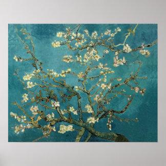 Blühender Mandelbaum durch Van Gogh Poster