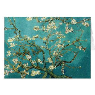 Blühender Mandelbaum Vintager Blumenvan gogh Karte
