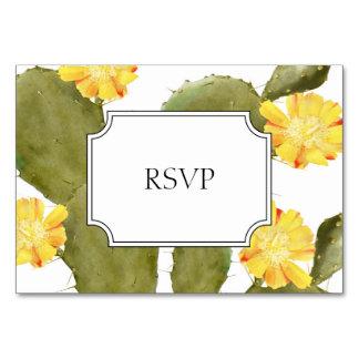 Blühendes Kaktushochzeits-Einladungs-uAwg Karte