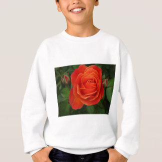 Blühendes Rosen-orange Rot Sweatshirt