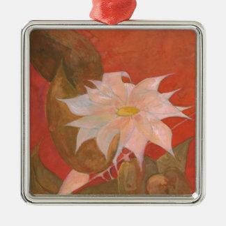 Blume 10 silbernes ornament