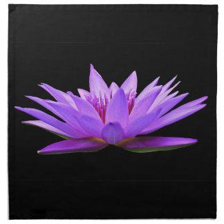 Blume auf Schwarzem Stoffserviette