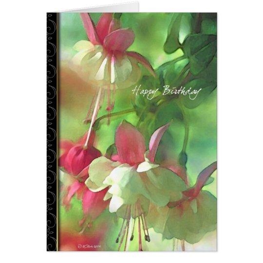 Blume blüht Blumengeburtstagskarte Karte