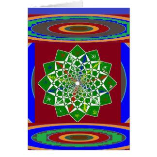 BLUME CHAKRA Rad-Energie: Smaragdgrün Karte