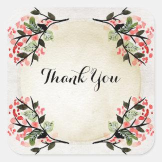 Blume danken Ihnen Aufkleber