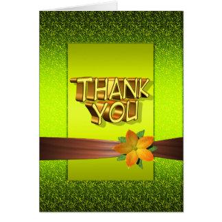 Blume danken Ihnen zu kardieren Karte
