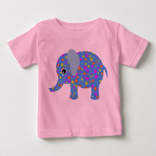 Blume der Elefant - Baby-feiner Jersey-T - Shirt