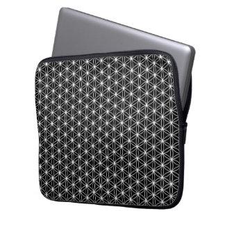 Blume der Leben-heiligen Geometrie Laptop Sleeve