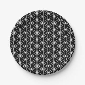Blume der Leben-heiligen Geometrie Pappteller