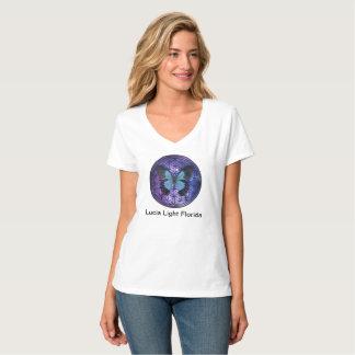 Blume des Leben-blauen Schmetterlinges in T-Shirt