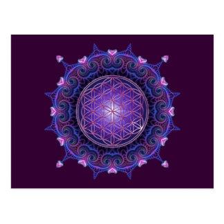 BLUME DES LEBENS/des Blume DES Lebens - Mandala I Postkarten