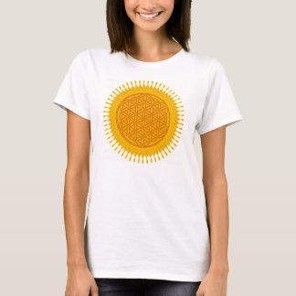 Blume des Lebens - gelbes sonniges T-Shirt