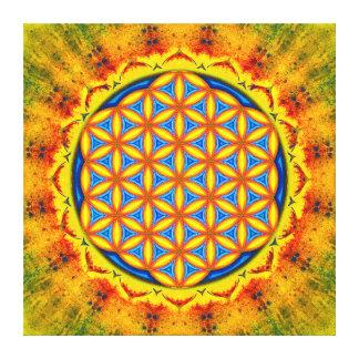 Blume des Lebens - Herbstsonne Leinwanddruck