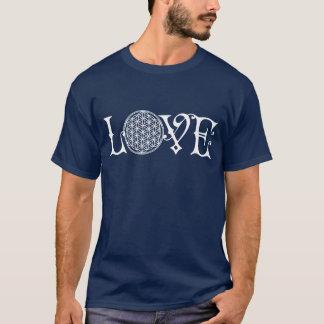 Blume des Lebens - LIEBE, die Tätowierungsweiß T-Shirt