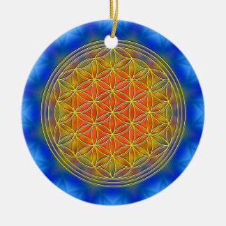 Blume des Lebens Motiv 13 Rundes Keramik Ornament