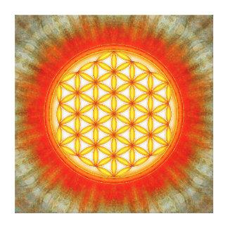 Blume des Lebens - Sonne II Leinwanddruck