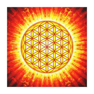 Blume des Lebens - Sonne III Leinwanddruck