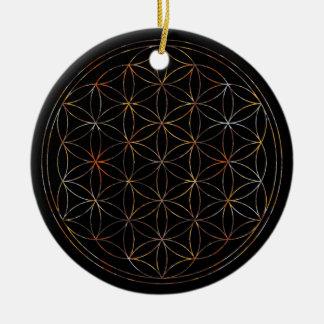 Blume des Lebens (V-Elemente) Keramik Ornament