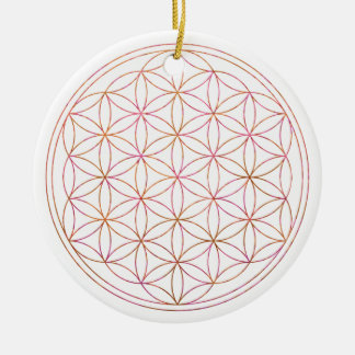 Blume des Lebens (V-Sonnenuntergang) Keramik Ornament