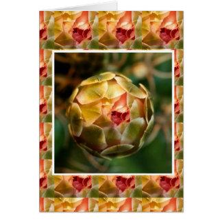Blume KNOSPE: Eleganter Diamant-Rubin wie BLICK Grußkarte