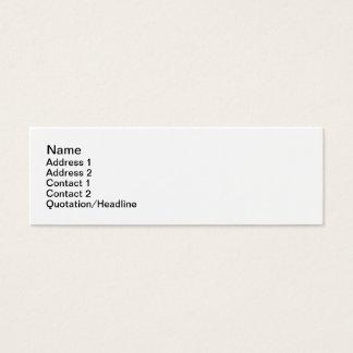 Blume Mini-Visitenkarten