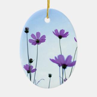 Blume Ovales Keramik Ornament