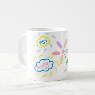 Blume und Wolken Kaffeetasse