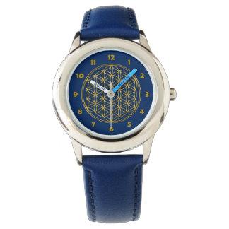Blume von Leben-/Blume-DES Lebens - glänzendes Uhr