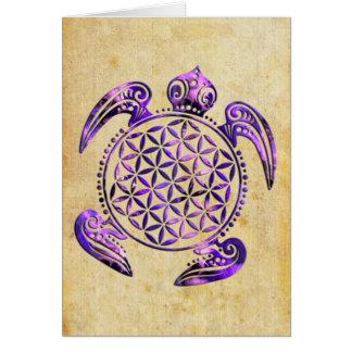 Blume von Leben-/Blume-DES Lebens - Schildkröte Karte