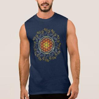 Blume von Leben-/Blume-DES Lebens - Verzierung IV Ärmelloses Shirt