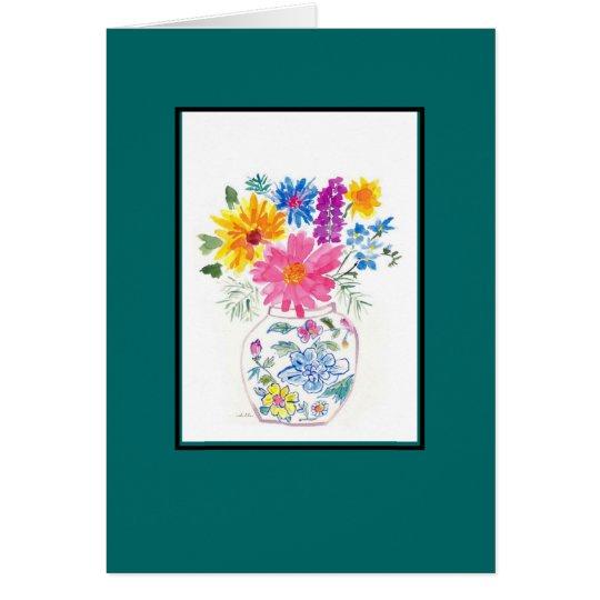 Blume Watercolorraum-Anmerkungskarte Karte