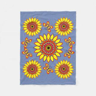 Blumeflings-Decke Fleecedecke