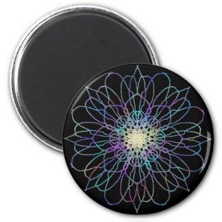 Blumemandala-runder Magnet