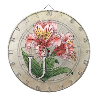 Blumen-Alphabet-Monogramm-Kunst Ulsters Mary Dartscheibe
