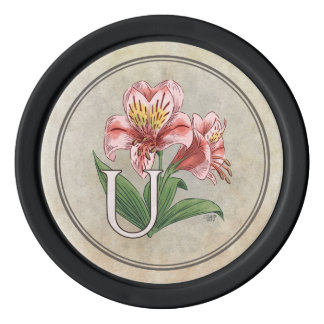 Blumen-Alphabet-Monogramm Ulsters Mary Pokerchips