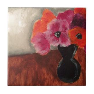 Blumen-Anordnung Kleine Quadratische Fliese