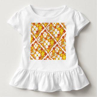 Blumen auf Orange Kleinkind T-shirt