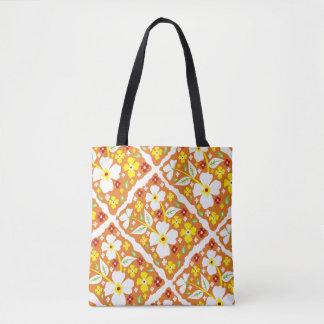 Blumen auf Orange Tasche