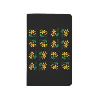 Blumen-beflecktes Glas-Taschen-Zeitschrift Taschennotizbuch